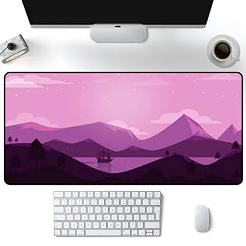ZRYYD Alfombra rosa alfombra de goma xxl alfombra de oficina accesorios de escritorio de oficina largo almohadillas grandes almohadillas de computadora mesa de escritorio negro alfombrilla padmouse es