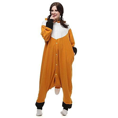 Disfraces de Cosplay para Adultos Pijamas de Animales One Piece Zorro, M
