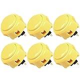 SANWA OBSF-30 - Botones de pulsador de arcade, color amarillo (6...