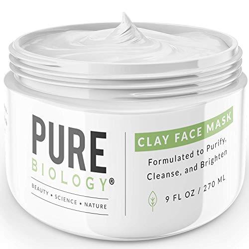 Premium Bentonite Clay Mask – Clinically Proven NaturePep Pea, Collagen, Natural Alpha Hydroxy Acids & Vitamin A, B, C, E Minimize Pores, Acne, Blackheads, Oily Skin & Dark Spots for Face, Men & Women