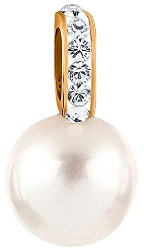 Nenalina Perlen Anhänger für Damen Kette oder Halskette mit Swarovski in 925 Sterling Silber, 264065-551