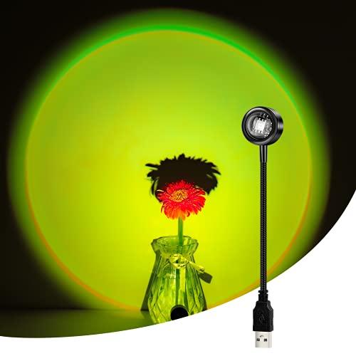 CoMokin Sonnenuntergang Lampe, 13 Modi Bunte Projection Lamp Sonnenuntergang Lampe, Regenbogen Projektionslampe mit 360 ° Drehung, Sonnenuntergang Projektionslampe für die Dekoration von Partythemen