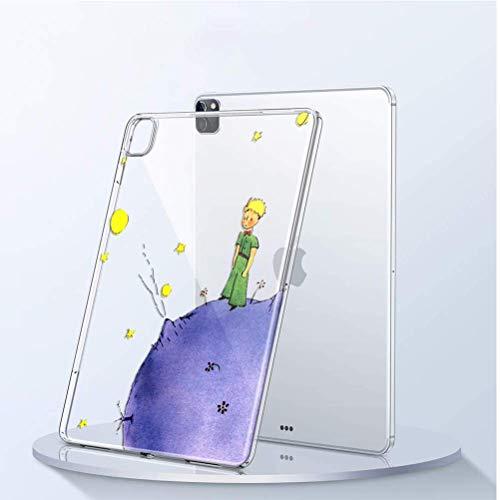 Yoedge Funda para Apple iPad Pro 12,9 2020, Carcasa Silicona Gel TPU Transparente con Dibujos Diseño Smart Case Cover Antigolpes Piel de Protector Tableta para iPad Pro 12,9 2020, Príncipe