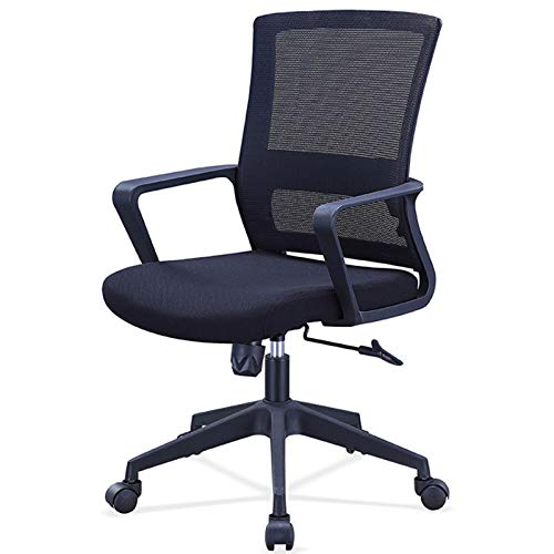 Sillas de escritorio Silla de escritorio de la oficina de la silla de malla 360 ° Silla de computadora ajustable de altura giratoria con asiento de malla Para recepción sala de conferencias comedor.