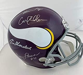 Purple People Eaters Signed Helmet - F S Rep Eller Marshall Page Larsen Beckett - Beckett Authentication
