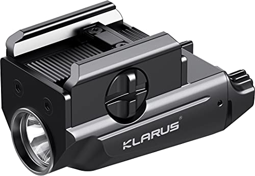 Klarus GL1 600 Lumens USB Rechargeable Tactical Weaponlight, Rail Mounted Compact Pistol Light, Compatible with Glock and 1913 Rail, Powered by Built-in Polymer Battery