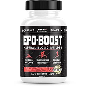 EPO-BOOST Natural Blood Builder Sports Supplement RBC Booster with Echinacea & Dandelion Root for Increased VO2 Max Energy Endurance  1-Pack