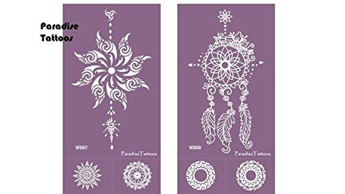 Pochoir de tatouage en mesh réutilisable Lot de 2 gabarits de tatouage 7 & 9