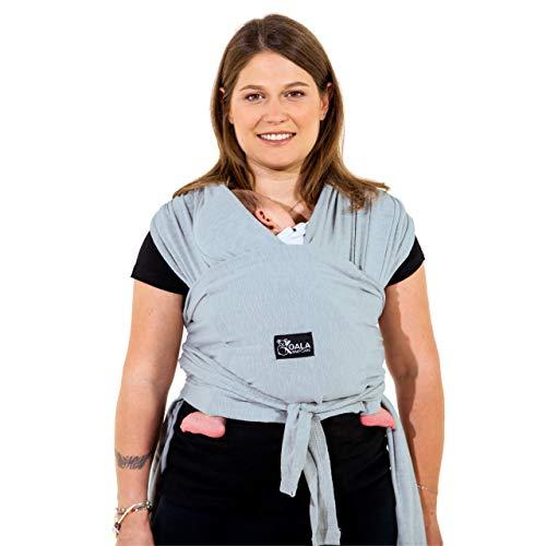 Babytrage einfach zu tragen (einfach anzuziehen), verstellbar Unisex - Mehrzweck-Babytrage bis 10 kg geeignet - Babytrage - Blau - Registriertes Design KBC®
