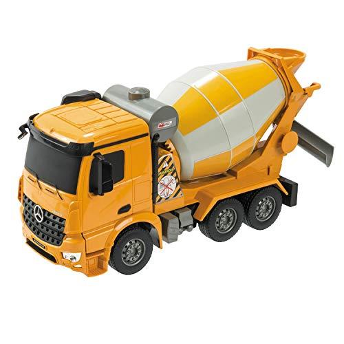 Mondo Motors- Mercedes AROCS betonniere, Chantier, Jouet pour Enfants, Camion, 63517, Orange, 1:26