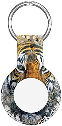 Collage Tiger Apple Airtag Case Protective Air Tag Keychain with Anti-Lost Design