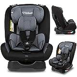 KIDWELL MAVER Autositz Kindersitz 0-36 kg | 0-11 Jahren | Gruppe 0/0+ / 1/2/3 | mit 5-Punkt-Gurtsystem | verstellbare Kopfstütze | stabil & sicher | Schwarz