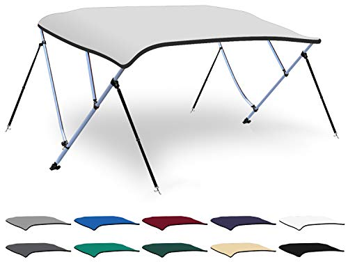 Great Deal! XGEAR 3-4 Bow Bimini Top Boat Cover with 4 Straps, Mounting Hardwares and Storage Boot, ...