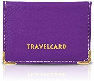 oth Purple Soft Leather Travel Bus Pass Credit ID Card Wallet Cover Case Holder, Violett