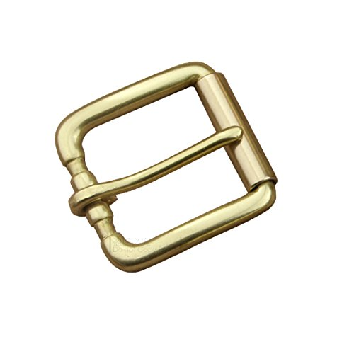 DIY Heavy Duty Roller Buckle Solid Brass Pin Buckle for Leather Belt 1 1/2' 38mm (#B01)