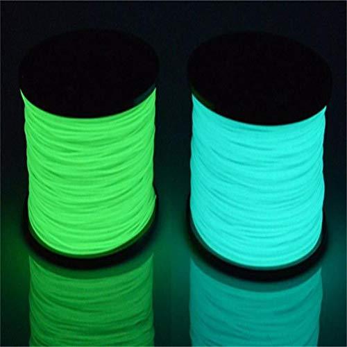 WANGZHI. Glow PLA Filament 3D Drucker Druck glühender ABS glühender Dunkel PCL (Color : PLA 1KG Glow Blue, Size : Kostenlos)