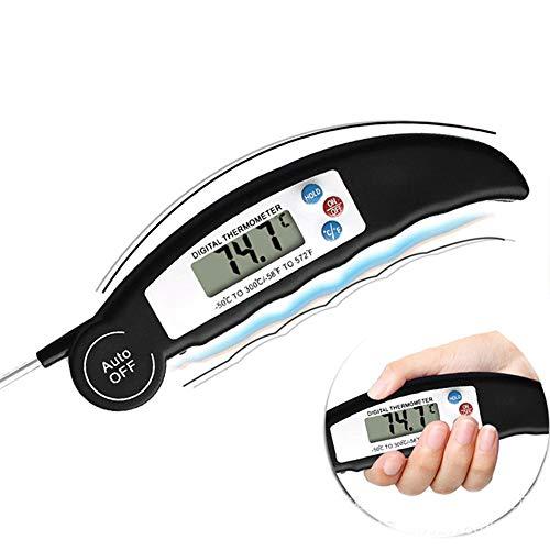 Lectura instantánea con el termómetro con sonda larga Resistencia al calor efectiva de alimento Cocción termómetro exterior barbacoa Termómetro (Color : Random Color, Size : 150 * 350 * 220mm)