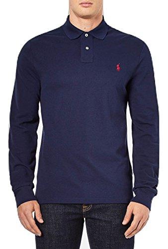Ralph Lauren Langarm Poloshirt Longsleeve Navy/Dark Blue (Navy, S)