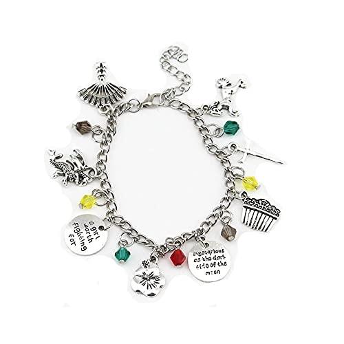 Pulsera de aleación de estilo chino de Hua Mulan, joyería hecha a mano, combinación multicolgante, pulsera, joyería, regalo creativo para los fanáticos