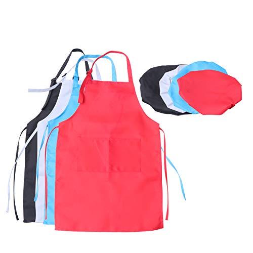SUPVOX delantales de pintura delantal ajustable para artistas con gorro para manualidades de clase actividades de pintura artística xl 4 juegos adecuados para niños de 7 a 13 años