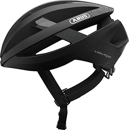ABUS Viantor Rennradhelm - Sportlicher Fahrradhelm für Einsteiger - für Damen und Herren - 78153 - Schwarz Matt, Größe M