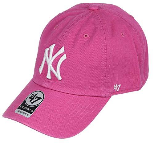 47 Brand 47 New York Yankees Adjustable Cap Clean Up MLB Magenta/White - One-Size