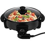 Pizzapfanne mit Deckel in zwei Größen Ø 30cm und Ø 42cm Partypfanne elektrisch Elektropfanne Multipfanne (30x 4 cm)