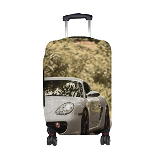 Cayman S Car Pattern Print Travel Luggage Protector Baggage Suitcase Cover Fits 18-21 Inch Luggage LGC-110