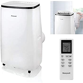 Honeywell 14,000 BTU Portable Air Conditioner with Dehumidifier & Fan Cools Rooms Up To 700 Sq Ft with Remote Control HJ4CESWK9 White/Black