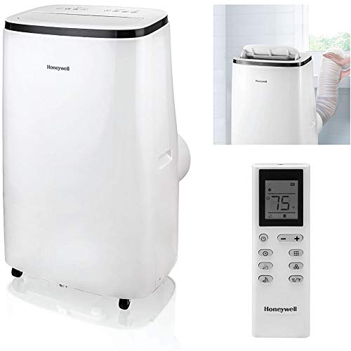 Honeywell HJ5CESWK0 15,000 BTU Portable Air Conditioner with Dehumidifier & Fan, White/Black