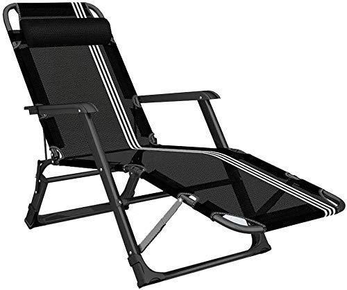 ADHW - Sillón reclinable para exterior, jardín Rocking Chair, silla de relax, playa, baño de sol, silla de paseo portátil, fundas de cojín para tumbona