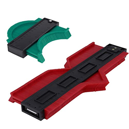 Buy Bargain Pinleg 2 Pcs 5/10Inch Plastic Contour Copy Duplicator Circular Frame Profile Gauge Ruled...