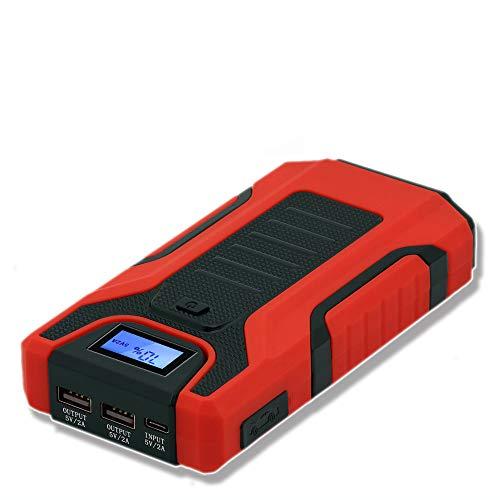 Fangke 1200A Auto-Starthilfe, Hochleistung 13800mAh, 5V Startgerät Power Bank, Autoladegerät für Autobatterie Booster Buster LED
