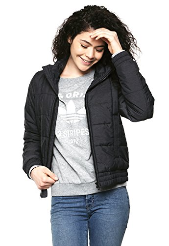 adidas Damen Jacke Essentials Padded, Schwarz, XS