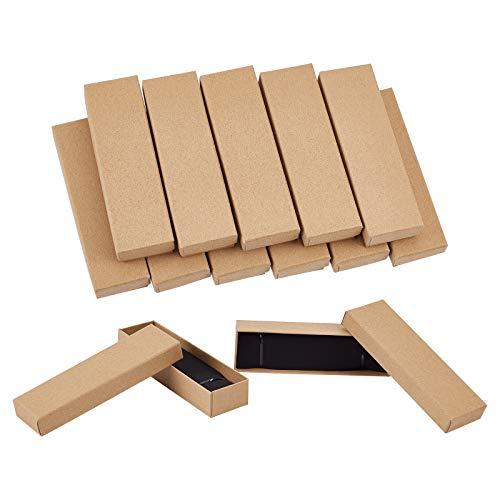 PandaHall Paquete de 20 cajas de regalo de cartón rectangular con esponja para joyas, pulseras, collares, colgantes, anillos, cumpleaños, Navidad, día de San Valentín