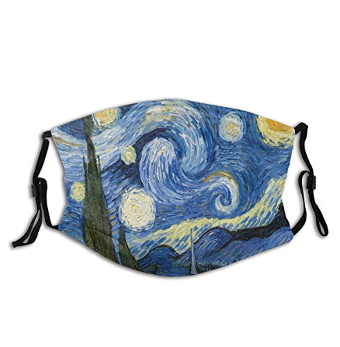 Starry Night - Adult Dust Face Cover with Earloop - Sun UV Protection Neck Gaiter - Bandana for Dust Outdoors Sports Men Women Workout - Balaclava Headwear for Fishing Hiking Cycling