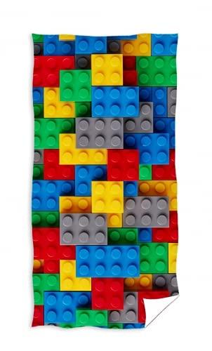 Toalla de baño (algodón, 70 x 140 cm), diseño de Lego
