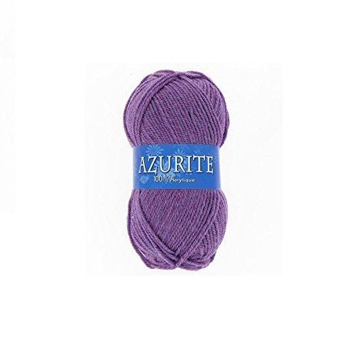 Pelote de laine Azurite 100% Acrylique Tricot Crochet Tricoter - Parme - 2622