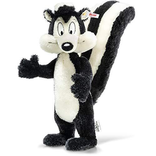 Steiff 355332 Pepe das Stinktier - schwarz/weiß 34 cm stehend 3-Fach gegliedert (Arme und Kopf)
