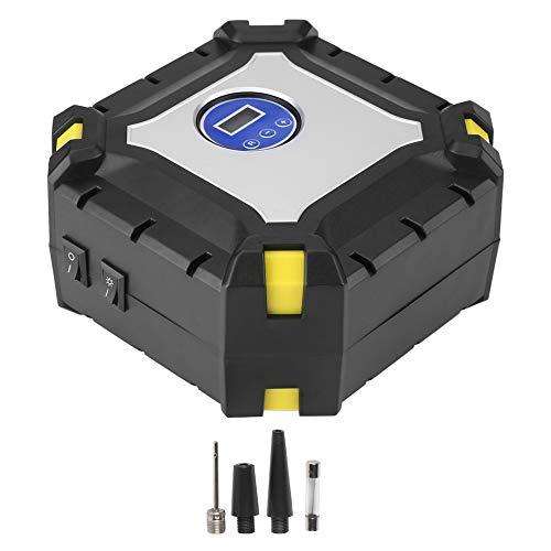Compresor de Aire Eléctrico, Yctze 12V Bomba de Inflado de Neumáticos de Coche Digital Portátil Compresor de Aire Eléctrico 100 PSI para Bola de Bicicleta de Coche