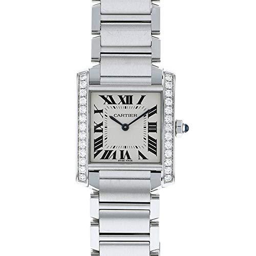 カルティエ Cartier タンク フランセーズ MM ベゼルダイヤ W4TA0009 シルバー文字盤 腕時計 レディース (W175597) [並行輸入品]