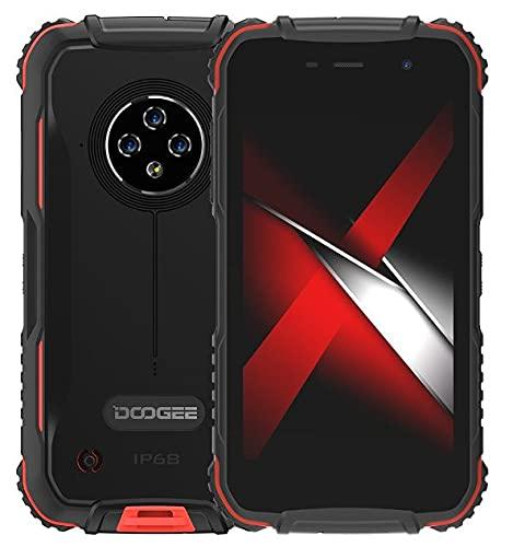 4G Móvil Resistente DOOGEE S35, Android 10 IP68 Smartphone Libre Antigolpes, 2GB+16GB(Compatible con Tarjeta SD 256GB), 5.0'' HD+, Cámara Triple 13MP, Dual SIM, Desbloqueo Facial GPS WiFi Rojo