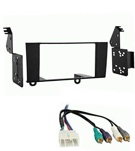 Car Stereo Dash Kit and Wire Harness Combo to Install a Double Din Size Aftermarket Radio Made for 1995-2000 Lexus LS400 (Only vehicles with premium system/external factory amp- No factory Navigation)