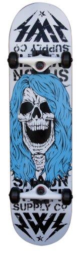 Shaun White Supply Co. Park Skull 2.0 Complete Skateboard - White. 32 x 8 Inch