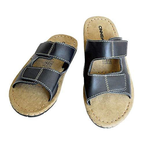 Cinnea® Soft Wellness Pantoletten Herren Sandalen Latschen gegen Schweißfüße (Gr. 42/43)