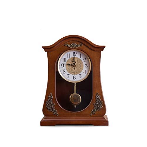 GZQDX Simple Mesa Reloj de Estar Creativo Europeo Retro péndulo Reloj Oficina Escritorio Reloj de Escritorio Ornamentos Vintage decoración del hogar