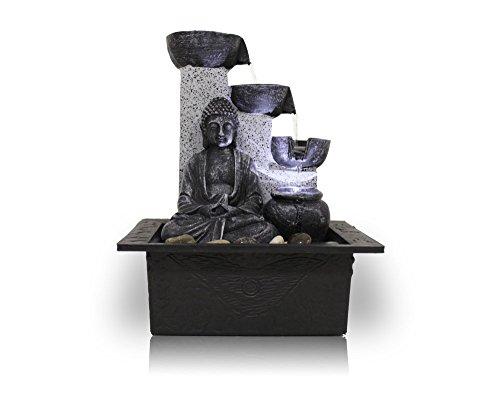 Kiom Zimmerbrunnen Dekobrunnen FoBuddha Pot mit LED 10782