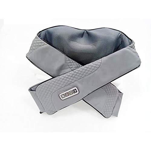 Best Electric Shiatsu Deep Kneading Heating Neck Shoulder Warmer Massager Massage Belt Machine (Gray)