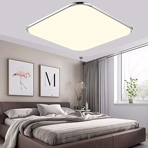 BFYLIN 48W Ultraslim Lámpara De Techo Regulable LED Lámpara Moderna Del Techo Pasillo Salón Dormitorio De La Lámpara Ahorro De Cocina 3500K (48W Blanco Cálido)