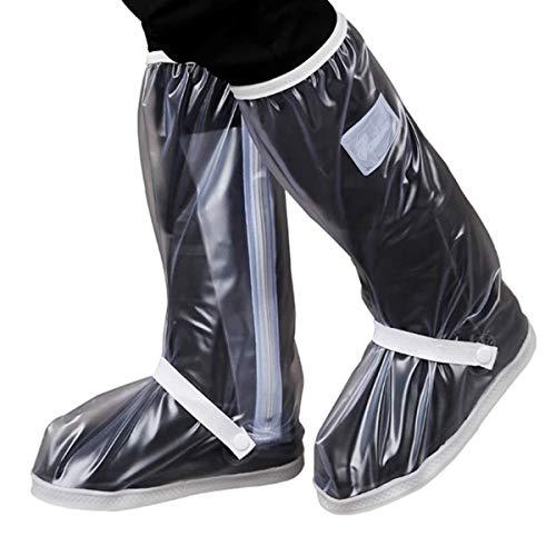 DANXIAN Unisex Regenüberschuhe Wasserdicht Überschuhe Fahrrad, Regenschutz Schuhe rutschfeste Outdoor, Mehrweg Motorrad Schuhüberzieher für Herren und Damen